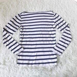 Gap the modern boatneck striped shirt